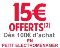 Cdiscount: - 15 € dès 100 € d'achat de petit électroménager