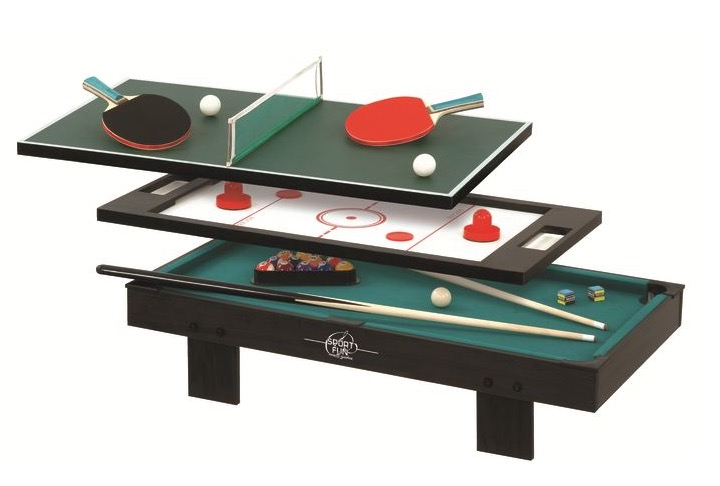 mini table de jeux 3 en 1 ping pong billard hockey pour 44 9 au lieu de 74 9 go sport. Black Bedroom Furniture Sets. Home Design Ideas