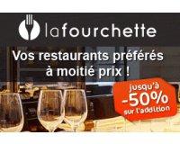 LaFourchette: Profitez de jusqu'à 50 % de réduction sur vos additions au restaurant