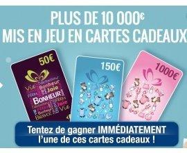 Carrefour: Plus de 10 000 € de cartes cadeaux à gagner