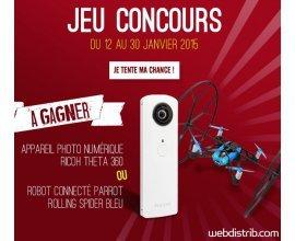 Webdistrib: 1 appareil photo numérique Ricoh Theta 360 ou 1 robot connecté Parrot à gagner