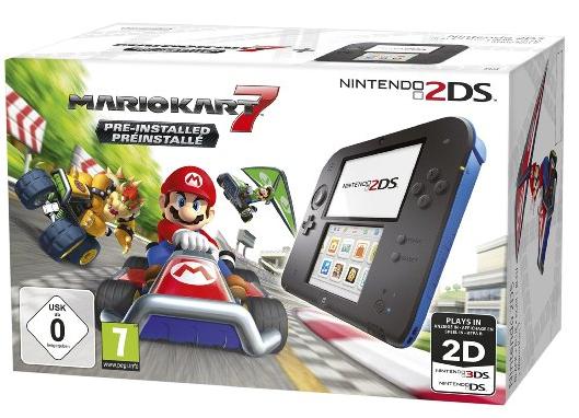 Code promo Fnac : [Adhérents] Console Nintendo 2DS + le jeu Mario Kart 7 à 69,99€ (dont 20€ offerts en chèque cadeau)