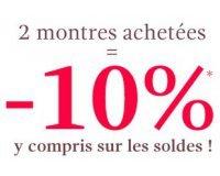 Montres & Co: 2 montres achetées = - 10 % même sur les soldes