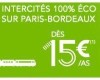 Voyages SNCF: Trains INTERCITES Paris-Bordeaux dès 15 € l'aller simple