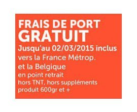1001Pharmacies: Frais de port offerts en point retrait sans montant minimum d'achat