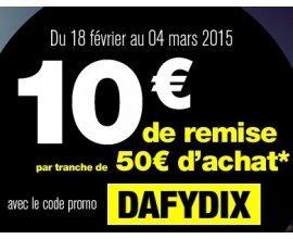 Dafy Moto: 10€ offerts par tranche de 50€ dès 100€ d'achat