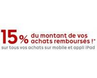 PriceMinister: 15 % du montant de vos achats remboursés en commandant sur mobile