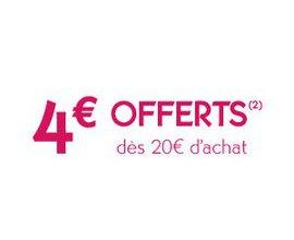 Yves Rocher: 4€ de réduction dès 20€ d'achats