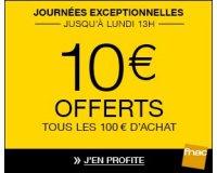 Fnac: [Journées adhérents] 10€ offerts tous les 100€ d'achat