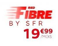 SFR: Abonnement internet RED Fibre par SFR à 19,99€ / mois pendant 1 an