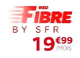 Code promo SFR : Abonnement internet RED Fibre par SFR à 19,99€ / mois pendant 1 an