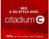 SFR: [Clients RED by SFR] 10% de réduction dans tous les magasins CITADIUM