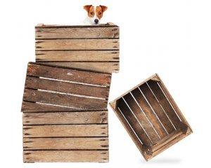 4 caisses de d coration en bois pour le prix de 3 l 39 art - Caisse en bois pour decoration ...