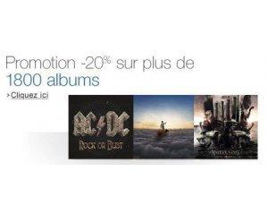 Amazon: 20% de remise sur une sélection de 1 800 CD