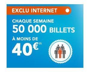 OUI.sncf: 50000 billets à moins de 40€ avec votre carte de réduction SNCF