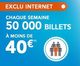 Code promo Voyages SNCF : 50000 billets à moins de 40€ avec votre carte de réduction SNCF