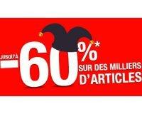 Auchan: -60% sur plus de 1000 articles