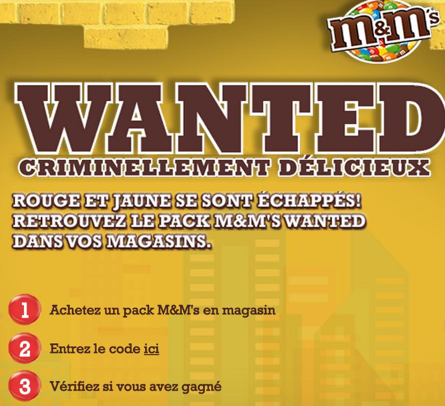 Code promo My M&M's : Un chèque de 10 000€ et 150 bons d'achat à gagner