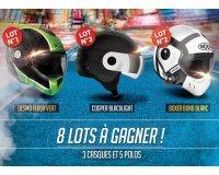 iCasque: 3 Casques de Moto et 5 Polo de la marque Roof à gagner