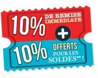 Cdiscount: - 10% immédiats & 10% offerts en bons d'achat à utiliser pendant les soldes