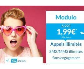 Prixtel: Le forfait mobile Modulo à 1,99€ par mois au lieu de 5,99€ pendant 3 mois