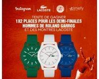 Timefy: 2 places pour les demi-finales hommes de Roland Garros et des montres Lacoste