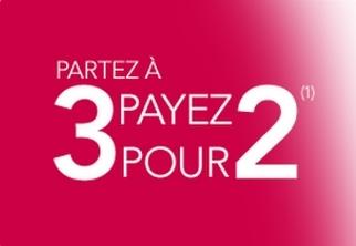 Code promo Voyages SNCF : Partez à 3 pour le prix de 2 (300000 billets disponibles)