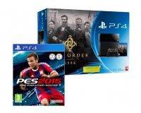 Amazon: Console PS4 500 Go Noire + les jeux The Order 1886 et PES 2015 pour 399€