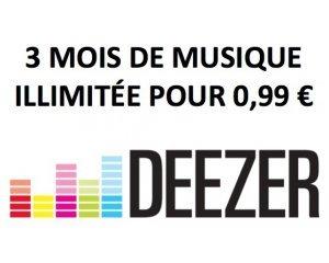 Deezer: [Nouveaux Clients] 3 mois d'abonnement à Deezer Premium+ pour 0,99€