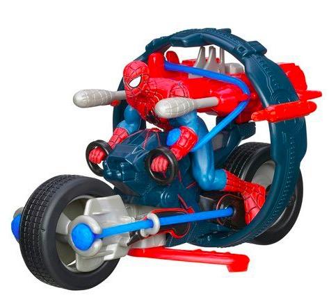 Jouet hasbro moto extr me spiderman 11 90 auchan - Moto spiderman jeux ...