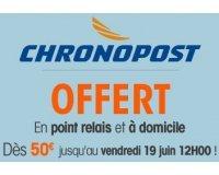 Boulanger: Livraison Chronopost en point relais ou à domicile offerte dès 50€ d'achat
