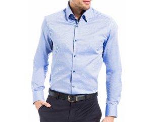 chemise homme bleu 100 coton celio 21 48 celio. Black Bedroom Furniture Sets. Home Design Ideas