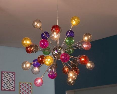 Luminaire Design Composé De Boules En Verre Soufflé