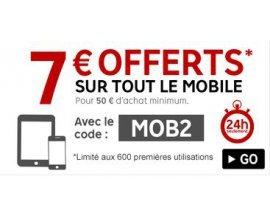 Rakuten-PriceMinister: - 7€ dès 50€ d'achat via mobile (limité à 600 utilisations)
