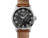 Timefy: Montre Hugo Boss Acier bracelet Cuir marron 1512723 à 177€