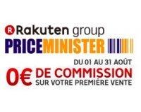 PriceMinister: 0€ de commission sur votre 1ère vente