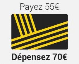 Fnac: [Adhérents Fnac] Payez 55€ le bon d'achat de 70€ (ou 30€ pour 40€)