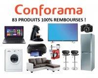 Conforama: 83 produits 100% remboursés en bons d'achat