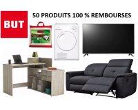 BUT: 50 produits 100% remboursés en bons d'achats