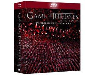 Amazon: Game of Thrones - L'intégrale des saisons 1 à 4 en Blu-ray à 34,91€