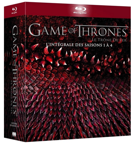 Code promo Amazon : Game of Thrones - L'intégrale des saisons 1 à 4 en Blu-ray à 34,91€