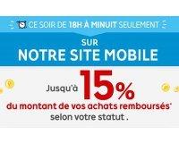 PriceMinister: [De 18h à minuit] Mobile Night 10 à 15% de vos achats sur mobile remboursés
