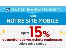 Rakuten-PriceMinister: [De 18h à minuit] Mobile Night 10 à 15% de vos achats sur mobile remboursés