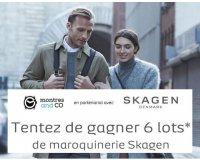 Montres & Co: 6 lots de Maroquinerie Skagen à gagner