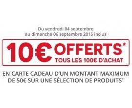 Darty: 10€ offerts tous les 100€ d'achat sur tout le site