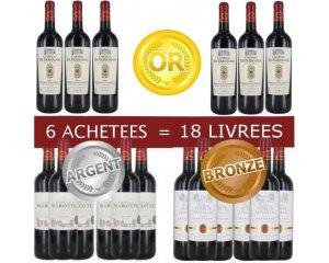 foire aux vins pack 6 bordeaux m daill s achet s 18 bouteilles livr es cdiscount. Black Bedroom Furniture Sets. Home Design Ideas