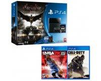 Cdiscount: Console PS4 500 Go + Batman Arkham Knight + NBA 2K15 et Call of Duty AW