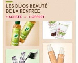 Yves Rocher: Duos beauté de la rentrée : 1 acheté = 1 offert sur une sélection de produits