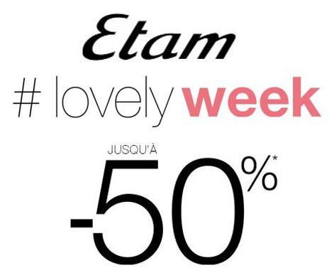 Code promo Etam : Lovely Week : jusqu'à 50% de réduction sur plus de 1000 articles