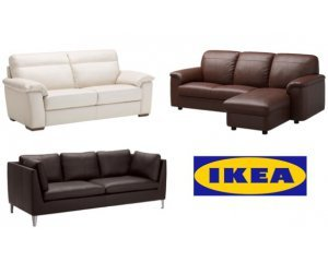 15 de r duction sur une s lection de canap s cuir et simili cuir ikea. Black Bedroom Furniture Sets. Home Design Ideas